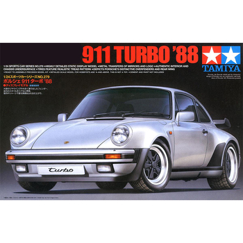 Tamiya 24279 1/24 scale Porsche 911 Turbo 1988 Sport Car Display Collectible Toy Plastic Assembly Building Model Kit