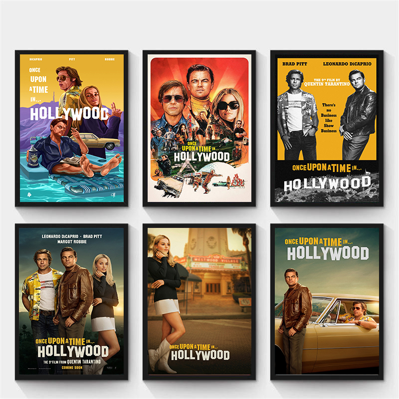new-movie-poster-once-upon-a-time-in-hollywood-retro-art-prints-vintage-wall-decor-pictures-quentin-font-b-tarantino-b-font-posters