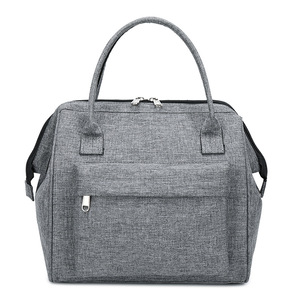 Image 1 - Large Portable Insulated Canvas lunch Bag Thermal Food Picnic Lunch Bags Women kids Men Cooler Lunch Box Bag Tote