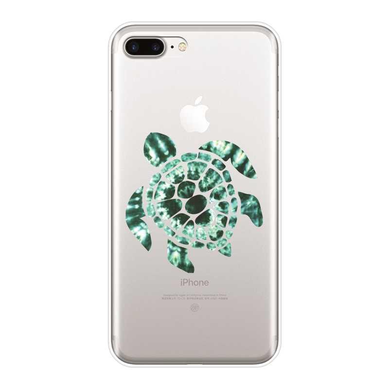 電話ケース Iphone 5 × XR XS 最大 8 7 6 S 6 S 緑、青カメ動物ソフト iphone 6 S 6 S 7 8 プラスケース