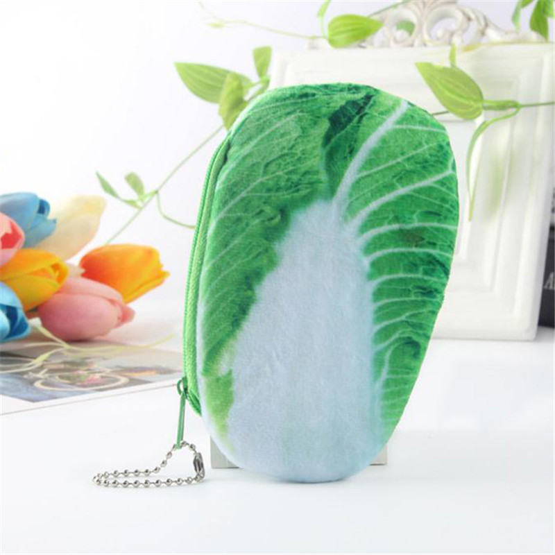 LKEEP Vegetables Coin Bags Funny Cute Multicolor Simulations Shopping Grocery Purse Card Package Students Storage Coin Purse