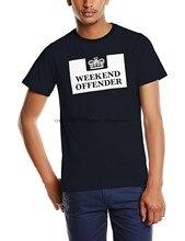 2020 novo fim de semana ofensor prisão t camisa masculina em torno do pescoço manga curta