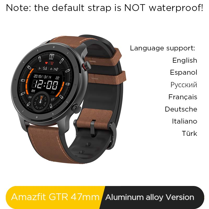 Global Version New Amazfit GTR 47mm Smart Watch 5ATM Smartwatch 24Days Battery Music Control For Android IOS Phone
