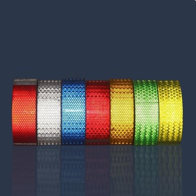 Fita adesiva reflexiva para caminhões, acessórios para caminhões com 5cm x 3m, fita de segurança em branco, vermelho e amarelo reflexivo refletor