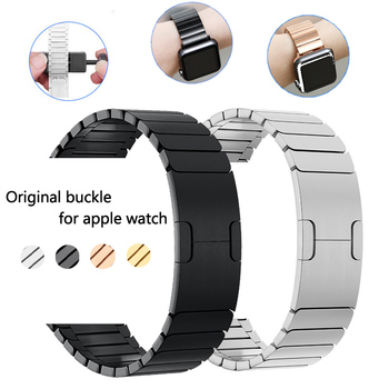 цена на Strap For Apple watch band 44mm 40mm apple watch 5 4 3 Stainless steel watchband iwatch band 42mm 38mm Metal Link bracelet belt