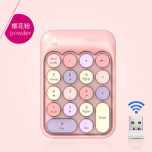 Mini cute 24g color key wireless numeric keyboard portable and