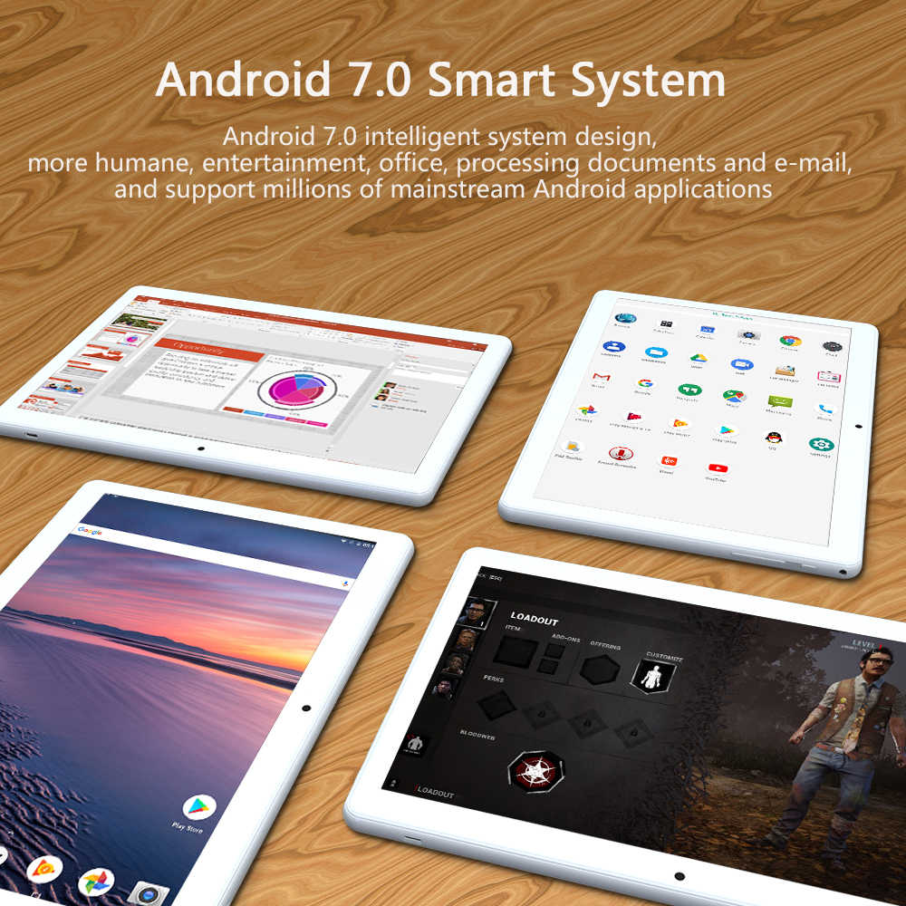 4G Lte 10.1 Inch Android Tablet Pc Octa Core Processor Android 7.0 4 Gb Ram 64 Gb Opslag Dual sim Telefoontje, dual Camera Wifi Gps