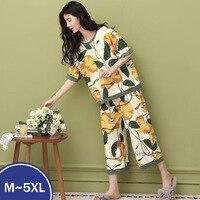 Pantalones cortos de algodón para mujer, ropa de dormir holgada para el hogar, talla grande 4XL, 5XL, para el verano