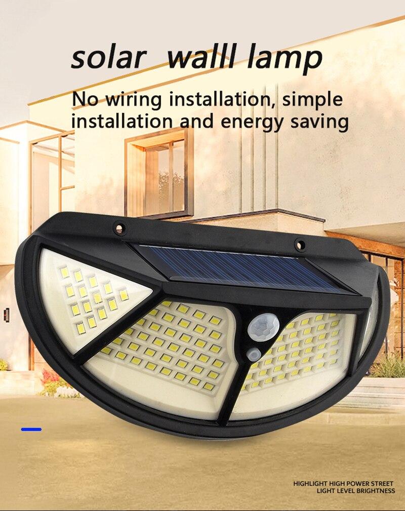 Environmental Protection Intelligent Solar Wall Lamp Garden Lamp Waterproof Outdoor Sunlight Villa Road Lighting Street