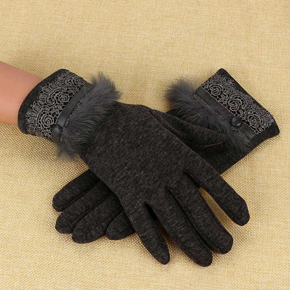 Sleeper #P501 2019 NEW Women Cashmere Keep Warm Driving Full Finger Gloves Touch Screen Glove перчатки Guantes Luva Winter Hot