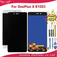 Per OnePlus X E1003 Display LCD Con Touch Screen Sensore Complete Assembly LCD Per OnePlus X Display E1003 LCD(China)
