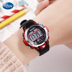 Disney dziecięcy cyfrowy zegarek wodoodporny wielofunkcyjny dla chłopców z motywem sportowym zegarki klamra 5Bar wodoodporny wyświetlacz tygodniowy z tworzywa sztucznego|Zegarki dla dzieci|   -