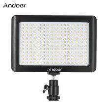 Andoer Mini Studio Video Fotografie LED Licht Panel Lampe 3200K/6000K 192pcs Perlen für Canon Nikon DSLR Kamera DV Camcorder