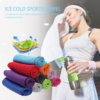 Ice Cold Sports Towel Summer Outdoor Fitness Quick Dry Cooling Towel Unisex For Yoga &Gym Cool Down Ventilate And Evaporate Fast image
