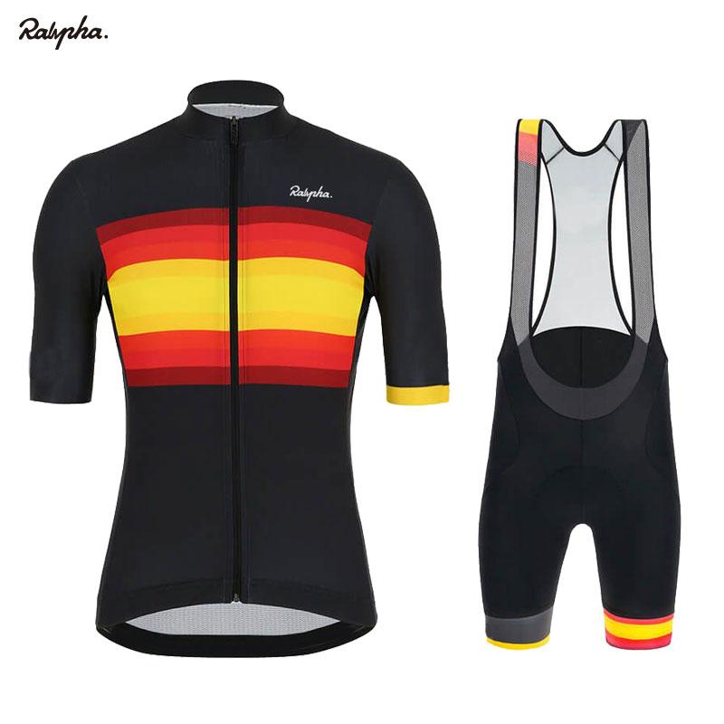 Cycling Jersey Set Men Short Sleeve MTB Bike Clothing Bicycle Shirts Padded Shorts