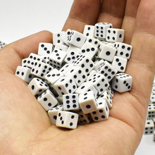 Gaming-Dice Board-Game Decider Funny Parties White Standard 8mm 6pcs Six-Sided Toy-Tool