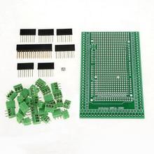 1Pcs MEGA-2560 R31 Prototype Screw Terminal-Block-Shield-Board-Kit for Arduino use PCB, female header sockets FR-4 glass fiber