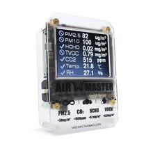 KKMOON AM7p HCHO detektor powietrza Monitor jakości CO2 czujnik CO2 czujnik Pm2.5 maszyna domu okoliczności Tester miernik co2