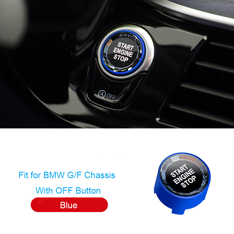New Start Stop Engine Switch Button Crystal Cover For BMW F30 F10 G20 F48 G30 G12 G01 G08 1 <font><b>2</b></font> <font><b>3</b></font> <font><b>5</b></font> Series X1 X3 X4 X5 X6 Z4 2019 image