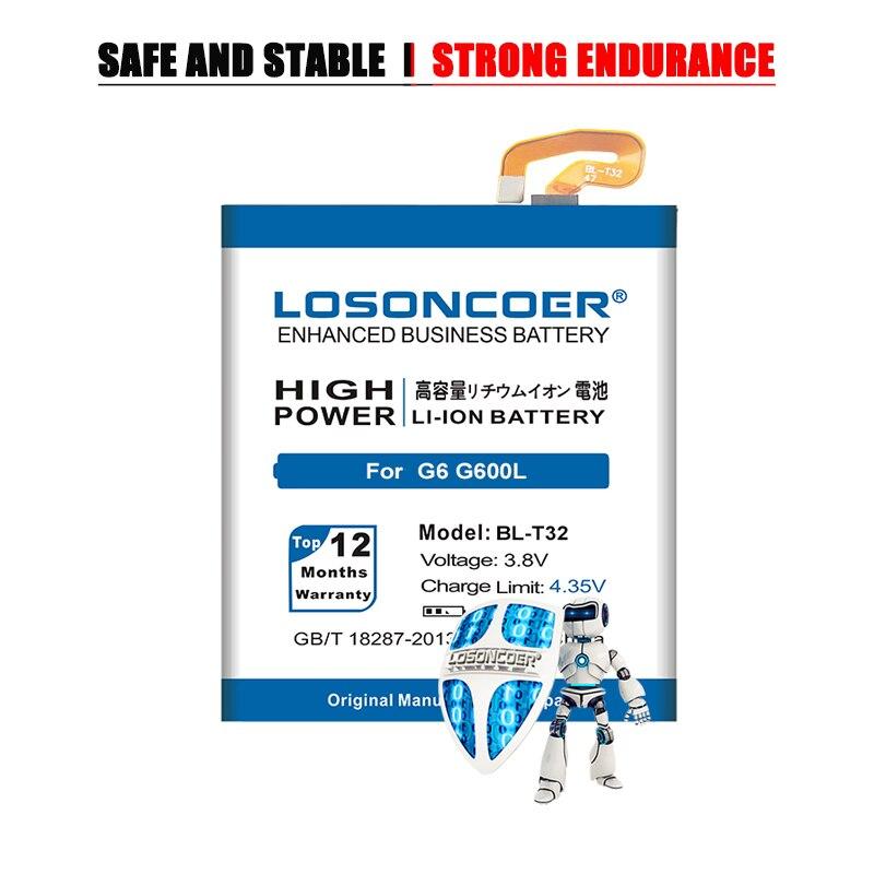 LOSONCOER 5000mAh baterii do LG G6 G600L G600S H870 US997 VS988 H871 H872 H873 LS993 BL T32 baterii + darmowe narzędzia
