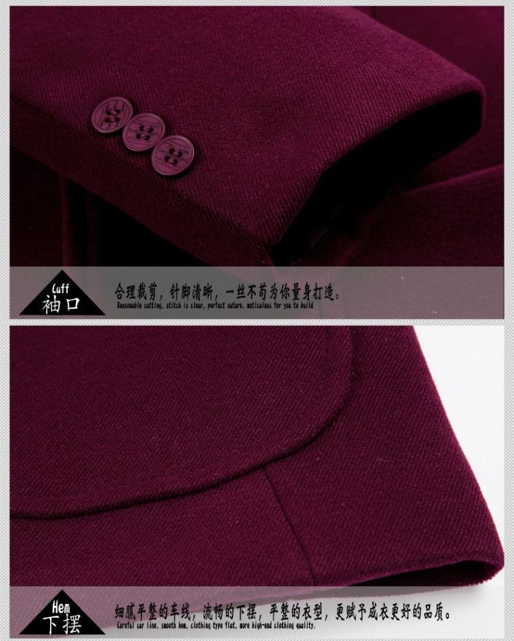 cor sólida tamanho grande moda selvagem Simples blazer Breasted