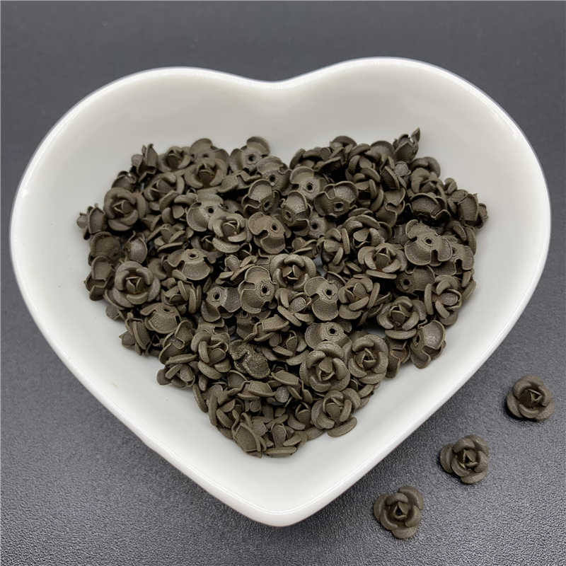 30pcs/Lot 7mm Jewelry Findings Aluminium Beads Cap Charms Rose Flower Shape Pendant Charms Beads For Jewelry Making