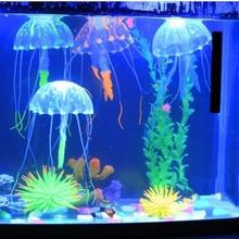 Glowing Jellyfish Aquarium Decoration Aquarium Fish Tank Underwater Live Plant Acuario Luminous Ornament Aquatic Landscape aquarium decoration silicone simulation artificial fish tank fake coral plant underwater aquatic sea ornament accessory d35