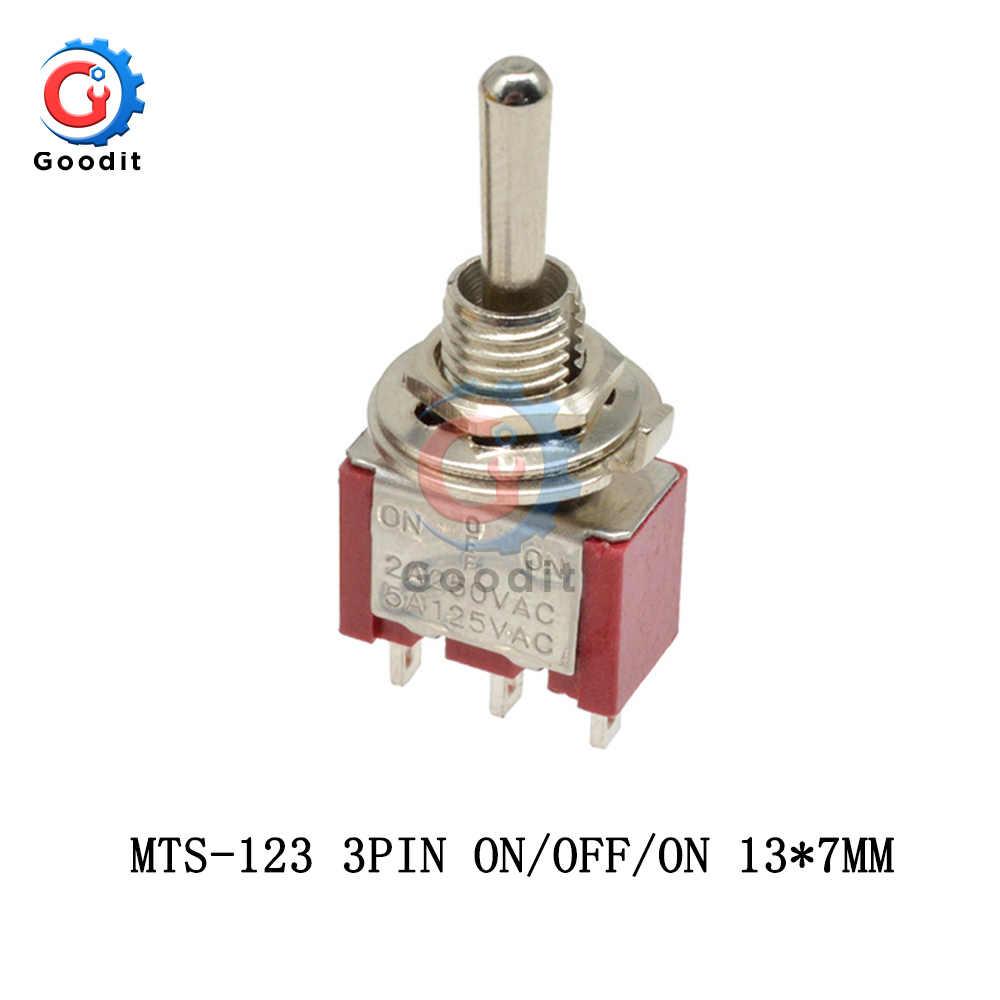 en - OFF - Mini Miniatura Momentáneo Interruptor de Palanca SPDT el
