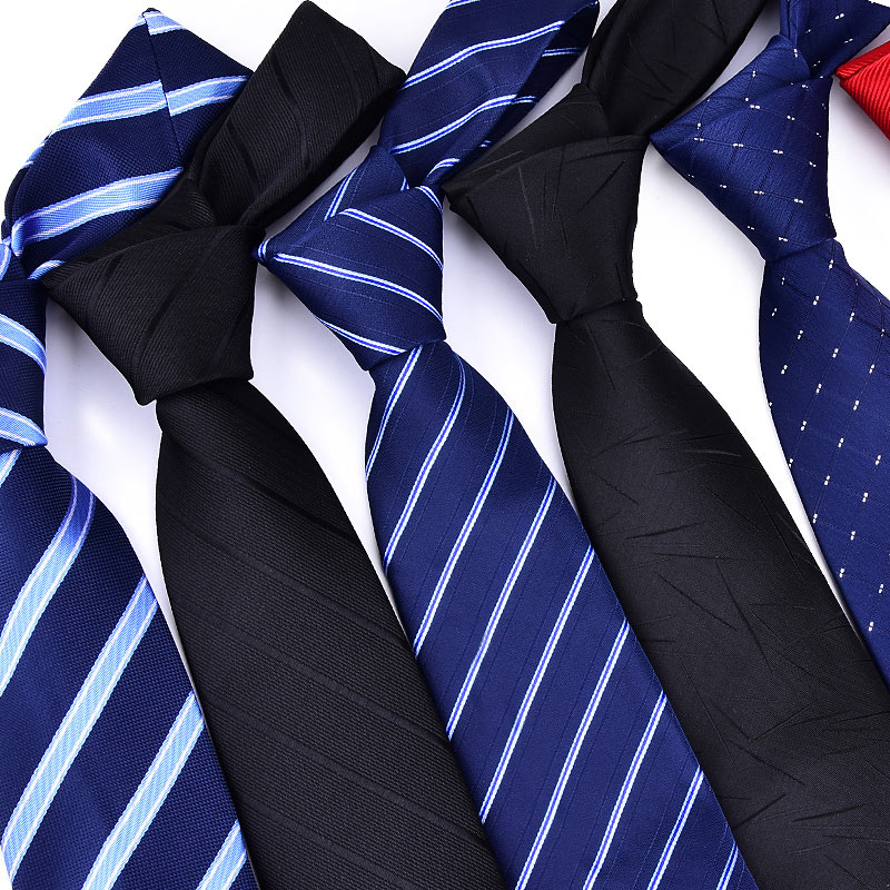 Classic Mens Red Black Blue Silk Tie 8cm Striped Ties Necktie Wedding Party