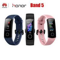 Huawei Honor Band 4 Band 5 pulsera inteligente versión brillante 50m impermeable Monitor de seguimiento de Fitness Monitor de ritmo cardíaco durante el sueño Smart wisband