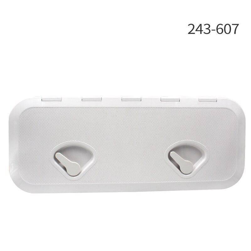 243*607 мм ABS пластик анти старение ультрафиолетовая белая палуба морской Люк палуба доступа люк лодка люки инспекции яхты крышка