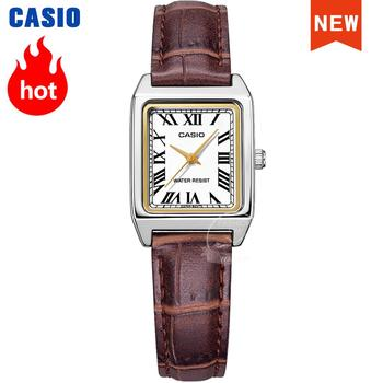 Casio Watch women Luxury Brand Analog Leather Square dial  Women's Wrist Watch Female Quartz waterproof Clock Relogio Mulher LTP