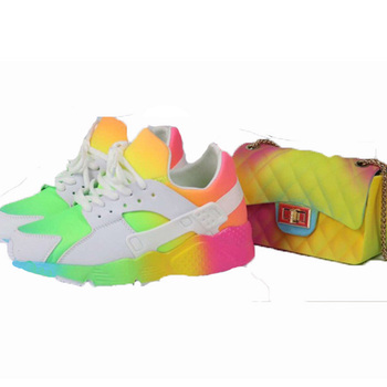 Women Rainbow Sport Shoes Sneakers Breathable Casual Children Shoes Girls Sneakers Boys Shoes  Girl Ins Colorful Running Shoes children sport shoes casual fashion boys girls net cloth breathable shoes kids sneakers student outdoor running shoes red black