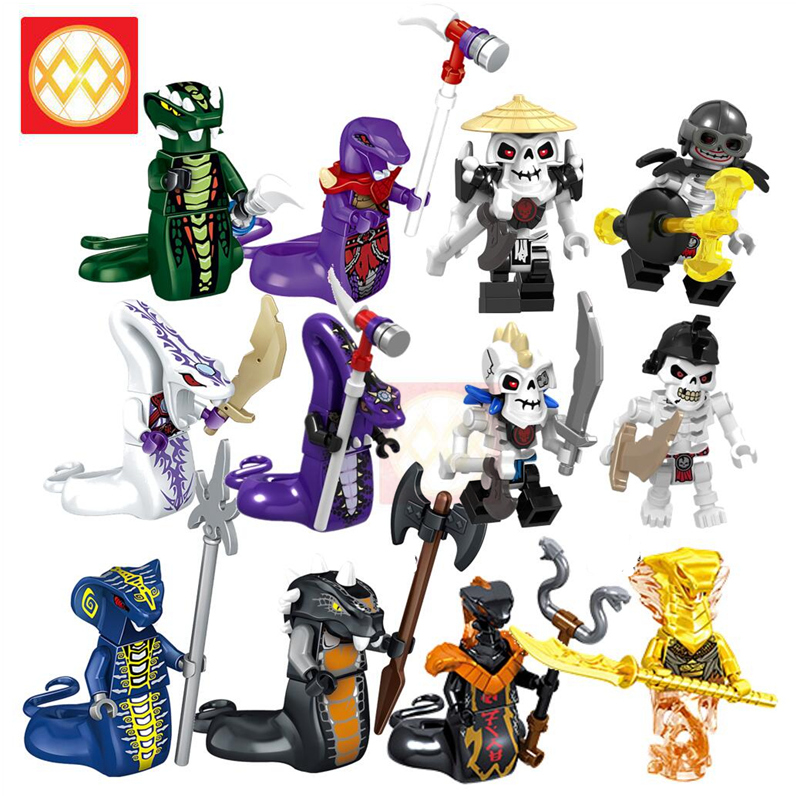 Toys for Soldier-Brick Building-Blocks Lloyd Chap Snakes Chokun-Snake-Skeleton Ninja
