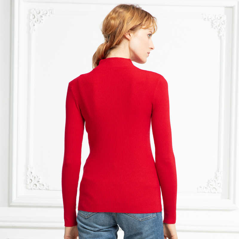 Marwin Neue-kommende Herbst Winter Rollkragen Pullover Pullover Primer shirt langarm Kurze Koreanische Dünne-fit engen pullover
