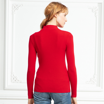 Marwin New-coming Autumn Winter Turtleneck Pullovers Sweaters Primer shirt long sleeve Short Korean Slim-fit tight sweater 6
