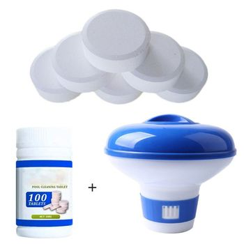 Swimming Pool Chlorine Dispenser Plus 100 Tablets Chlorine Tablets For Pool