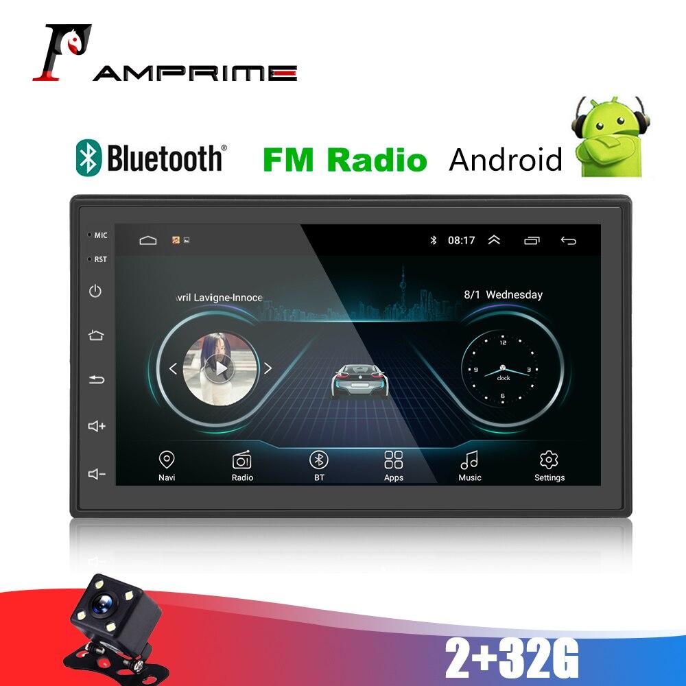 """Amprime 2din rádio do carro android 7 """"carro mp5 multimídia player 2 din tela de toque gps bluetooth fm wifi auto 2 32g jogador de áudio"""