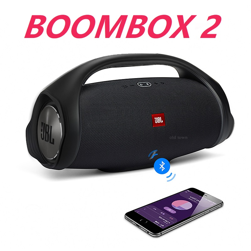 Портативная беспроводная Bluetooth-Колонка Boombox 2, водонепроницаемая Громкая колонка, динамический музыкальный сабвуфер, уличный громкоговорит...