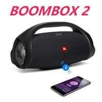 Boombox-altavoz estéreo 2 altavoz inalámbrico portátil con Bluetooth para exteriores, Subwoofer de música dinámico, resistente al agua