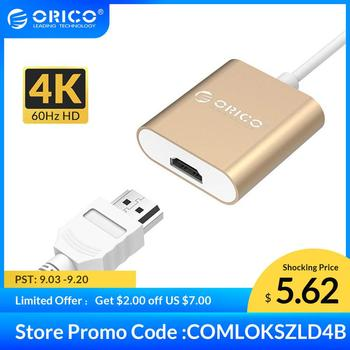 ORICO Aluminum Type C to HDMI Adapter USB 3.1 USB-C HUB Converter 4K 60Hz for MacBook pro HUAWEI
