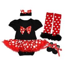 купить Christmas Baby Clothes Newborn Baby Girls Minnie Dress Set Children Polka Dots Cartoon Outfits Baby Girl Clothes D1369 онлайн