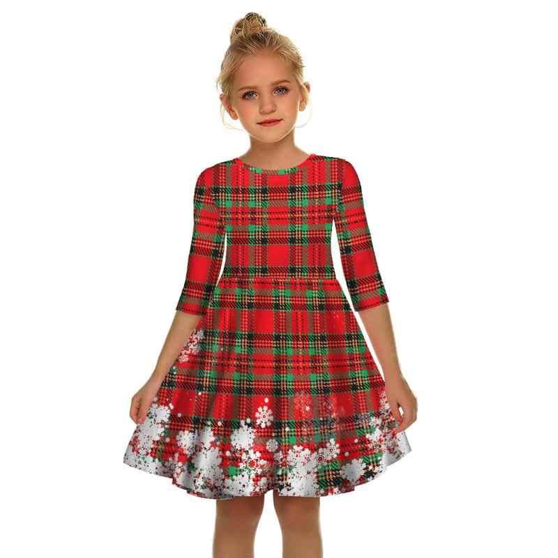 Adolescentes Vestido De Navidad Para Niñas Santa Claus Año Nuevo Disfraz Vestidos Infantiles Para Niñas Princesa De Navidad Regalo Copo De Nieve