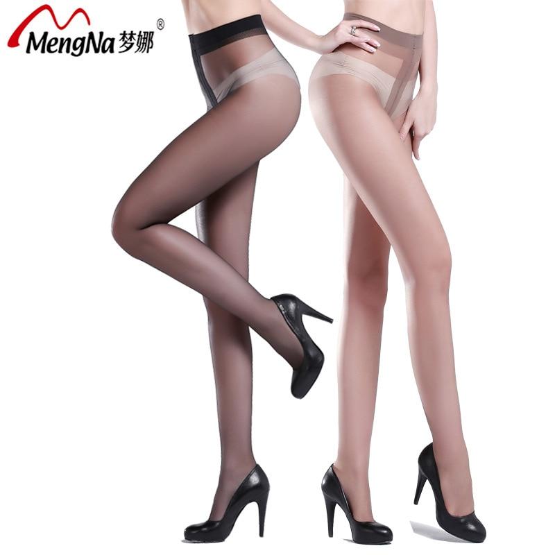 MENGNA Brand Underwear Women's Socks & Hosiery Tights Nylon Spandex Covering Yarn Extra Thin Super Soft Stretch long Socks Solid
