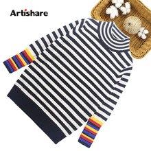 Кардиган для девочек; свитер в полоску для маленьких девочек; вязаный свитер в стиле пэчворк для девочек; одежда для детей-подростков 6, 8, 10, 12, 14 лет