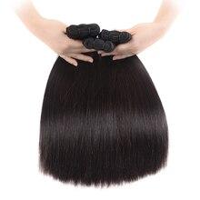 30 32 Inch Straight Malaysian Virgin Hair Bundles Natural Color 100% Human Hair Weave Super Double Drawn Human Hair Extensions