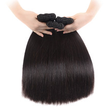 30 32 Inch Straight Malaysian Virgin Hair Bundles Natural Color 100% Human Hair Weave Super Double Drawn Human Hair Extensions