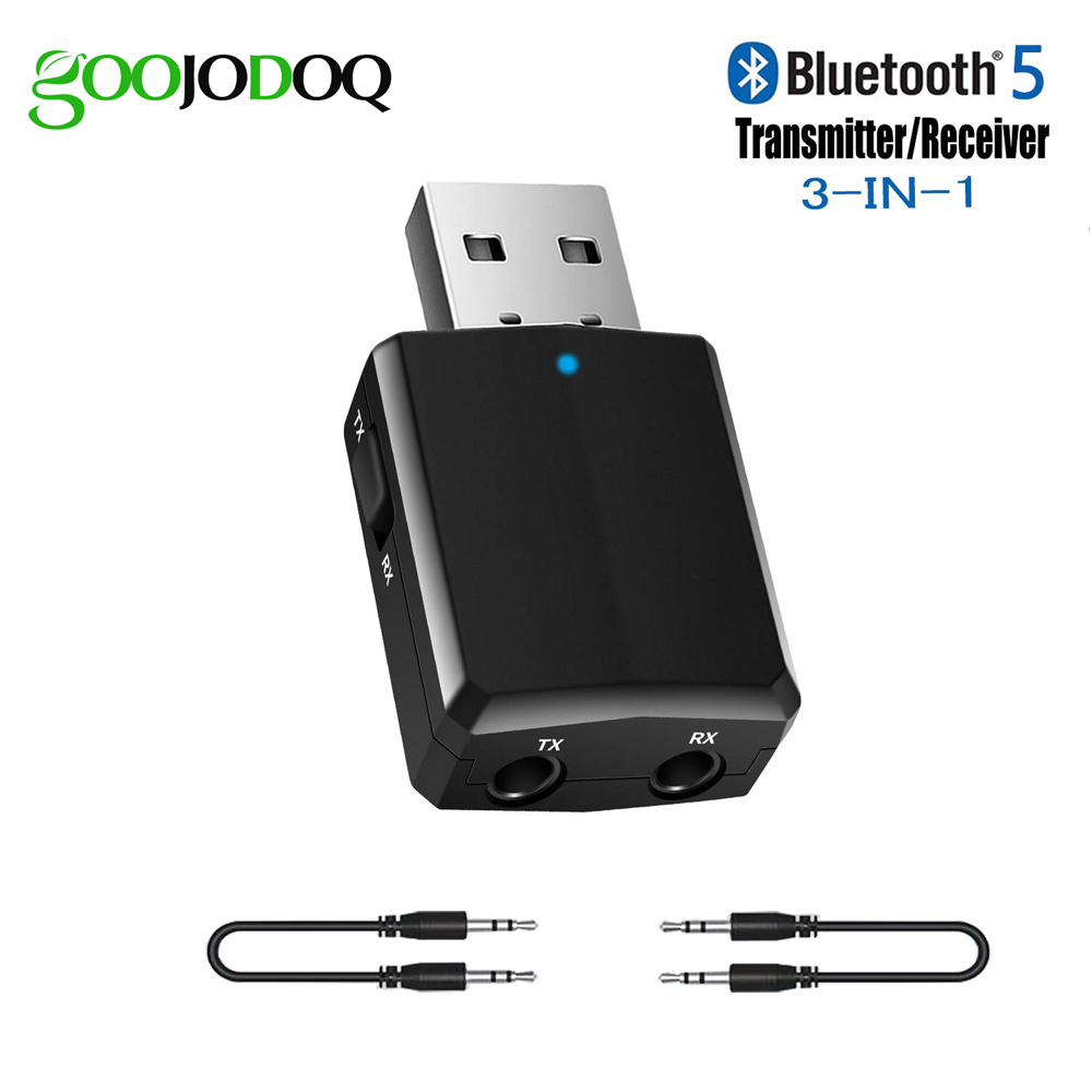 Bluetooth Adapter USB Bluetooth 5.0 Dongle Transmitter Receiver 3 In 1 For TV PC Headphones Iphone Home Stereo Car HIFI Audio