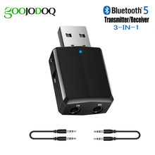Bluetooth Adaptor USB Bluetooth 5.0 Dongle Transmitter Receiver 3 In 1 untuk TV PC Headphone iPhone Stereo Rumah Mobil HI FI audio(China)
