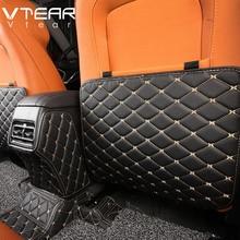 Vtear For hyundai creta ix25 accessories Interior Armrest box Rear seat Kick proof mat Childrens Kick mat Anti dirty Pad 2019